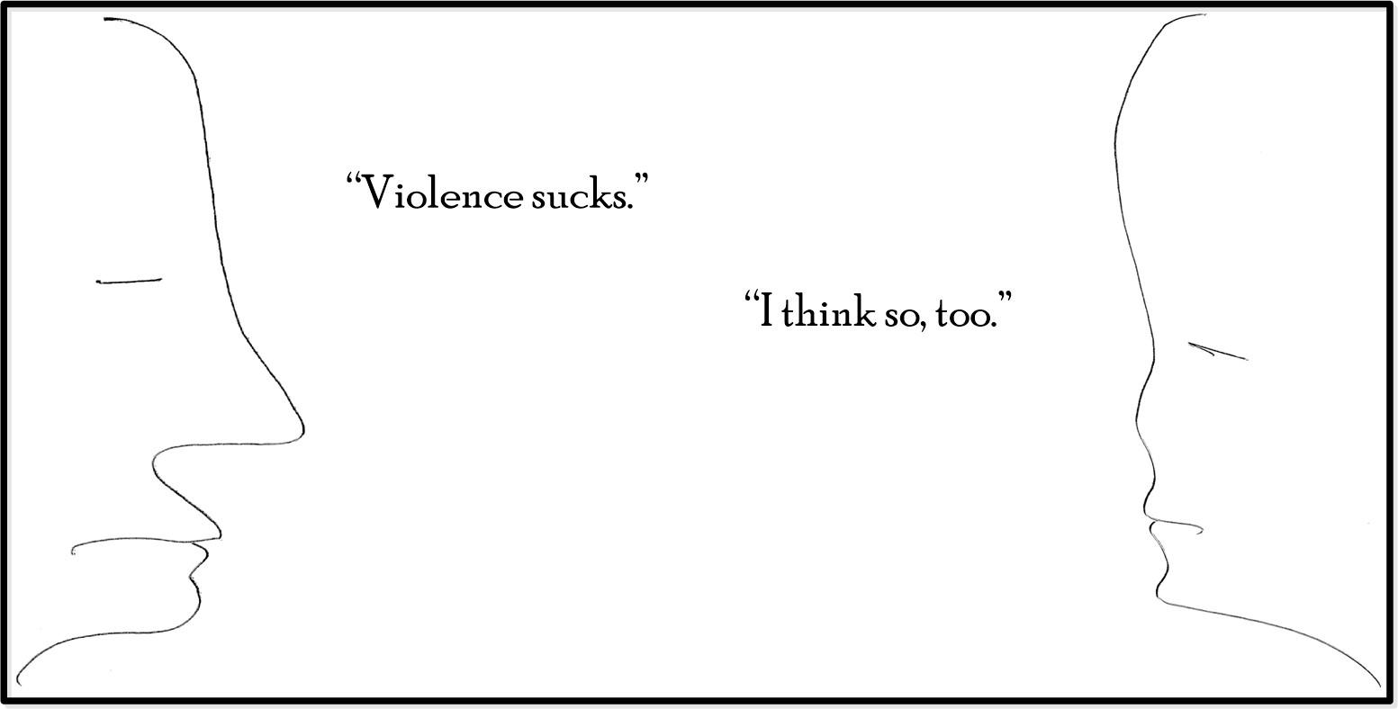 Violence 1 - Cartoon - Luke Andreski